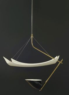 1954_ Ceiling light by Angelo Lelli, Manufacturer Arredoluce, Monza, Italy