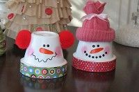 DIY bird feeder ideas | Cute DIY Snowmen From Terra Cotta Pots