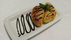 Podobný recept připravovala už v pondělí paní Anna, mladý hostitel ale svůj dezert více nazdobil.