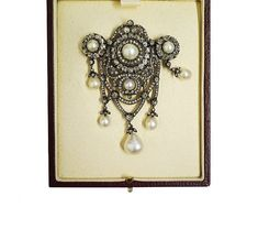 This Victorian brooch made with natural pearl and diamond on a gold and silver mount. Available at Havlik fine Jewels Royal Jewelry, Pearl Jewelry, Gold Jewelry, Vintage Jewelry, Jewellery, Christmas Gift Inspiration, Antique Brooches, Pearl Brooch, Inspirational Gifts
