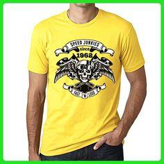 Speed Junkies Since 1962 Men's T-shirt Yellow Birthday Gift - Birthday shirts (*Amazon Partner-Link)