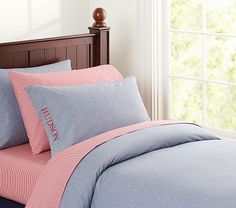 Chambray Duvet Cover #PotteryBarnKids
