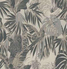 Maharajah Sable Foil wallpaper by Prestigious