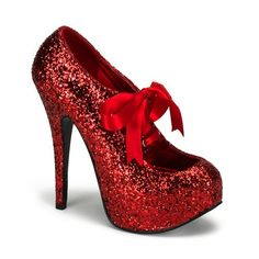 Bordello Red Glitter Burlesque Platform Shoes - available in all sizes. See our huge selection of burlesque shoes to buy online. Red Glitter Dress, Glitter Heels, Pink Glitter, Glitter Ribbon, Glitter Bomb, Red Stiletto Heels, Sparkly Pumps, Glitter Balloons, Glittery Nails