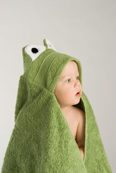 Frog Hooded Towel. $35.00, via Etsy.
