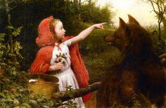"Seymour Joseph Guy (1824-1910), ""Red Riding Hood."""