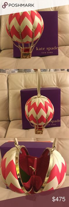 NWT Kate Spade Flights of Fancy Balloon Purse Adorable Kate Spade Hot Air Balloon Purse Wristlet called Flights of Fancy.  Never used.  Stored in original box. kate spade Bags