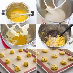 Rich, slightly cakey egg yolk cookies are just as tasty as any chocolate chip cookies. Egg Yolk Cookies, Make Ice Cream, How To Make Cookies, Vegetarian Chocolate, Chocolate Chip Cookies, Sweet Treats, Eggs, Tasty, Baking
