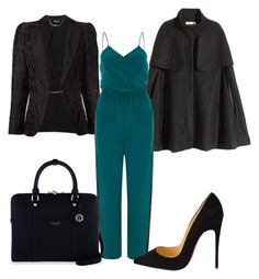 """""""jumpsuit at work"""" by belanda-dee on Polyvore featuring Alexander McQueen, H&M, Christian Louboutin and Henri Bendel"""