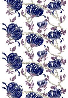 Sydänkäpy by Saara Eklund Ikea Fabric, Marimekko, Pattern Paper, Print Patterns, Rooster, Decoupage, Miniature, Fabrics, Texture