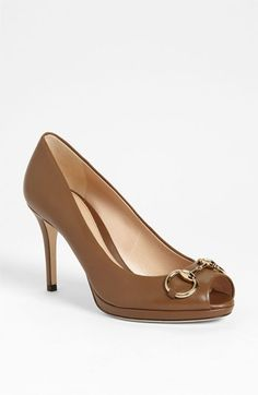 9f7b1ff07a6 Gucci  New Hollywood  Open Toe Platform Pump available at Nordstrom Gucci  Shoes
