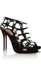 Christian Louboutin20th Anniversary Neuron 120 suede cage sandals