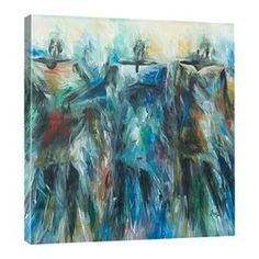 Bring a touch of chic style to your living room or master suite with this eye-catching canvas print, showcasing an abstract figural motif.  Product: Canvas printConstruction Material: Canvas and woodFeatures:  Gallery-wrappedReproduction of work by artist Prince Asher