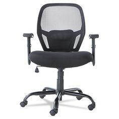 Merix450 Series Mesh Big/Tall Mid-Back Swivel/Tilt Chair, Black #alera #officechair
