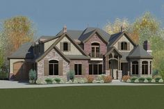 Eight Bedroom European House Plan - 290007IY | 1st Floor Master Suite, 2nd Floor Laundry, Butler Walk-in Pantry, CAD Available, Corner Lot, Craftsman, Den-Office-Library-Study, European, Jack & Jill Bath, Loft, Luxury, Media-Game-Home Theater, Northwest, PDF, Sloping Lot | Architectural Designs