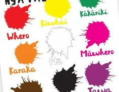 Colours Poster- Te Reo Maori Maori Words, Early Childhood Education, Teaching Materials, Preschool Activities, Crafts For Kids, Colours, Classroom Resources, Learning, Students