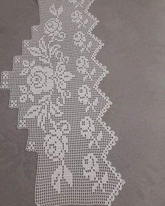 #Alıntı Filet Crochet, Crochet Borders, Bead Crochet, Crochet Doilies, Baby Knitting Patterns, Crochet Patterns, Smocking Tutorial, Crochet Curtains, Embroidery Needles