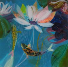 becky blair * artist - paintings: water lily