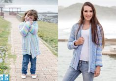 Quick Cardi Brand: Elle Yarn: Mischief Size From: 61 cm Size To: 137 cm Crochet Beanie Hat, Beanie Hats, Knit Crochet, Sweater Knitting Patterns, Chunky Yarn, Pullover, Baby Patterns, Baby Kids, Sewing