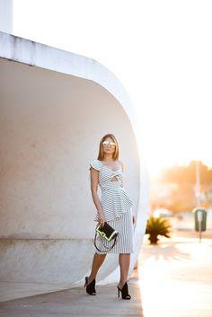 Vestido Listrado Iorane_Thassia Naves_1
