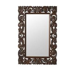 Home Decorators Collection, Padma Mango 36 in. H x 24 in. W English Oak Wood Carved Framed Mirror, 1469600930 at The Home Depot - Mobile