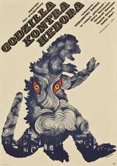 【浮世絵チック】ポーランド版『ゴジラ対ヘドラ』のポスターがカッコよすぎると話題に!! - Togetterまとめ