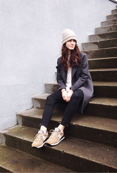 Kate Spade Saturday Coat, Double Layer Slouch Beanie, Saucony Shadow X Madewell