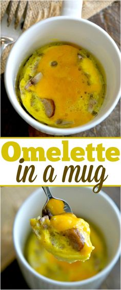 You've got to try this 1 1/2 minute omelette in a mug recipe, it's amazing!! Perfect breakfast in a mug recipe full of protein, my kids love it too! via @thetypicalmom