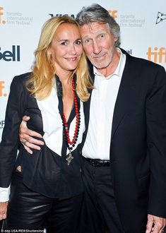 In happier times: Roger Waters' multi-million divorce proceedings were almost scuttled whe...