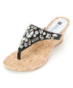 Loving this Onyx Ablaze Leather Sandal on #zulily! #zulilyfinds
