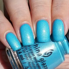 China Glaze What I Like About Blue swatched by Olivia Jade Nails Summer 2016 Lite Brite