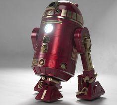 Iron Man-inspired R2 D2. Superb!