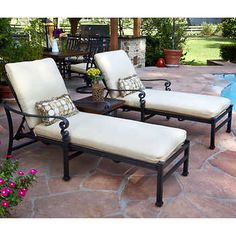 Meridian 3-piece Patio Chaise Lounge Set