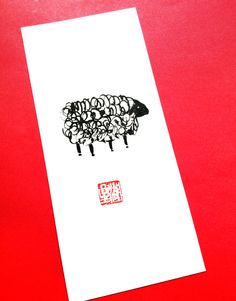 Year of the Sheep for the Chinese New Year Zodiac 2015 by ZenBrush - original painting 4 x 9 inches $24. use coupon code FREESHIP and free shipping!