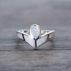Angel Opal Ring Tribal Bohemian Gypsy Jewelry Boho Festival Jewellery Hippie Style Fashion Indie and Harper