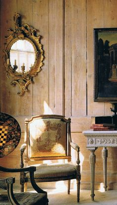 World of Interiors Sept '90 Bill Batten edited - LOVE the mirror on the bleached wood wall