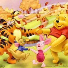 Pooh and friends on a fall day!