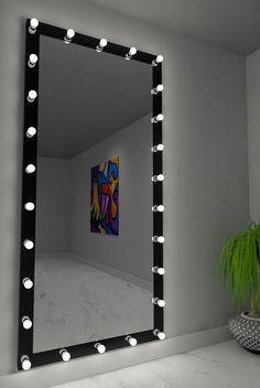 Dressing Hollywood Mirror Black 85 x 40 in Cute Room Decor, Teen Room Decor, Room Ideas Bedroom, Diy Bedroom Decor, Home Decor, Beauty Room Decor, Makeup Room Decor, Dressing Room Mirror, Pinterest Room Decor