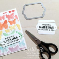 Trim down a framelit cut piece to make your own shape ~ Cindy Schuster