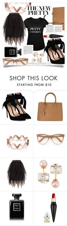 """""""The New Petty Plus"""" by tenishajonece ❤ liked on Polyvore featuring Gianvito Rossi, Prada, Wildfox, Melissa McCarthy Seven7, Vita Fede, Chanel, Christian Louboutin and plus size clothing"""