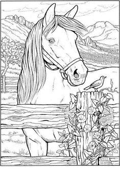 handgezeichnet stilisierte pferd - vektorgrafik