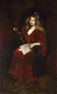 Natalie with Violin. Alice Pike Barney (American, 1857-1931). Smithsonian American Art Museum.