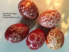 Photographing - PYSANKY BASICSBATIK EGGSby MAGGIE