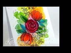 Cardmaking: Flower Arrangement with Loose Watercolor Background - YouTube. She colors the flowers after with Copics! Really makes a huge difference. She gives lots of coloring tips for the Copics. Two SSS Simon Says Stamp sets: Spring Flowers and Sketch Ranunculus
