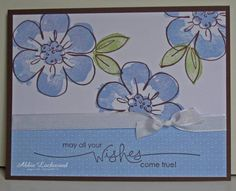 Blue Flowers by abigailadrienne - Cards and Paper Crafts at Splitcoaststampers