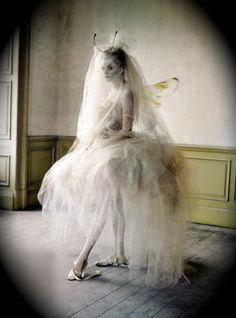 Halloween costume idea that you could use as a fairy, dancer or even make bride costume out of it!