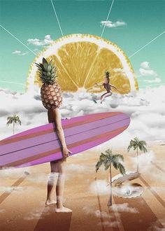 Sweet Surfing - Illustration by Dave Hänggi