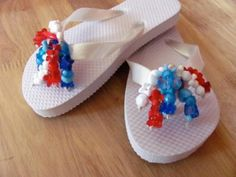 Here are the instructions to make your own DIY flip flops for summer. Consider DIY flip flops for weddings, team spirit, church fundraisers or wear for fun.