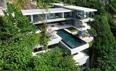 Villa Amanzi, a six bedroom residence with a 15m infinity pool and views over the Andaman Sea at Phuket, Thailand.