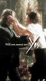 Rumbelle proposal! Even though Gold was being a jerk to Belle afterwards, still, SO EXCITED!!